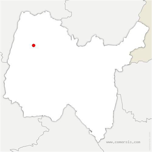 carte de localisation de Saint-Genis-sur-Menthon