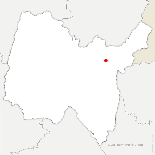 carte de localisation de Saint-Germain-de-Joux