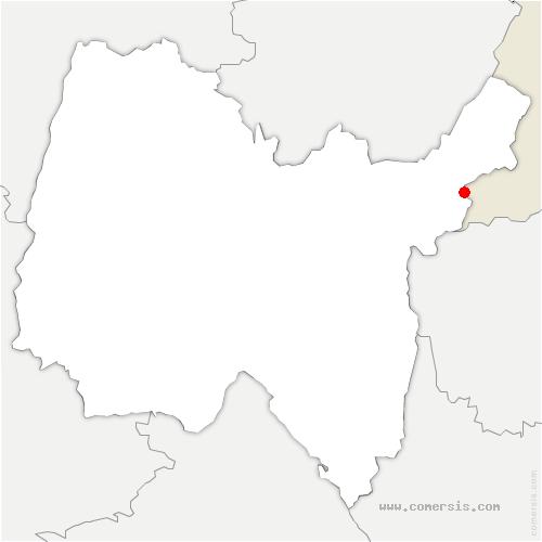 carte de localisation de Saint-Jean-de-Gonville