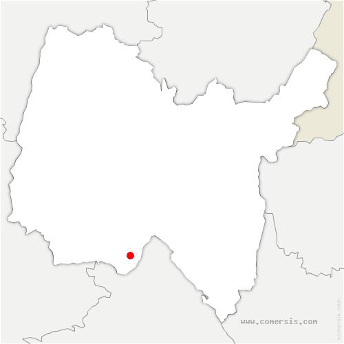 carte de localisation de Saint-Jean-de-Niost