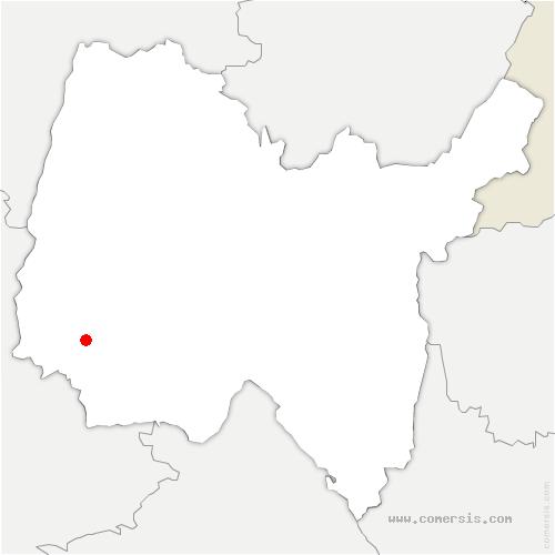 carte de localisation de Saint-Jean-de-Thurigneux