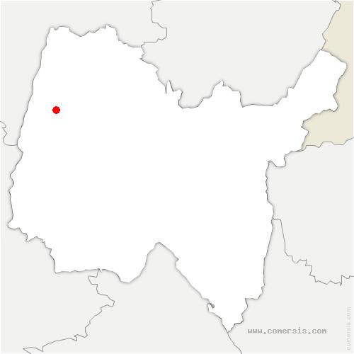 carte de localisation de Saint-Jean-sur-Veyle