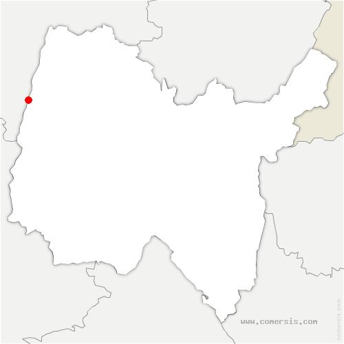 carte de localisation de Saint-Laurent-sur-Saône