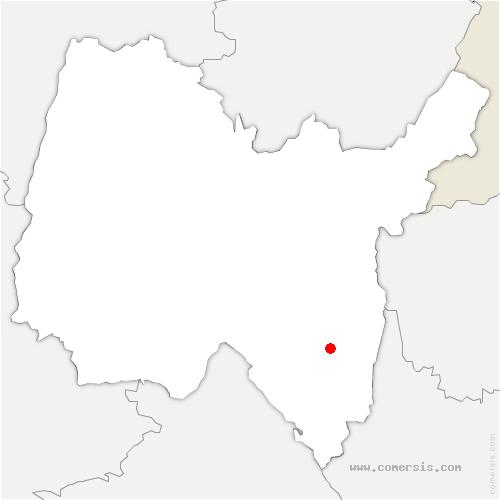 carte de localisation de Saint-Martin-de-Bavel