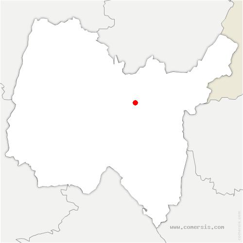 carte de localisation de Saint-Martin-du-Frêne