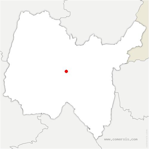 carte de localisation de Saint-Martin-du-Mont