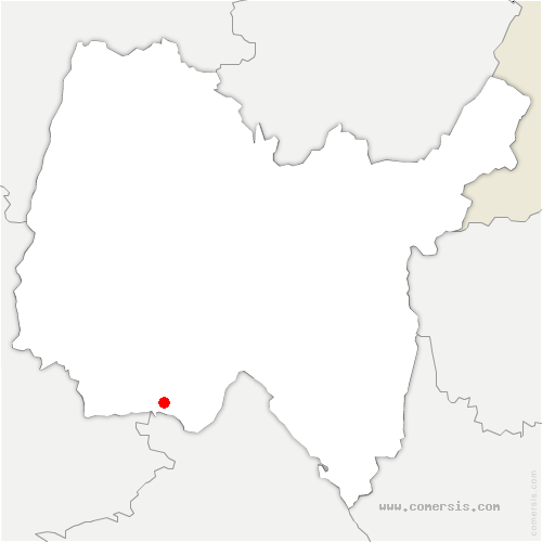 carte de localisation de Saint-Maurice-de-Gourdans