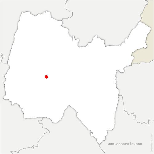 carte de localisation de Saint-Nizier-le-Désert