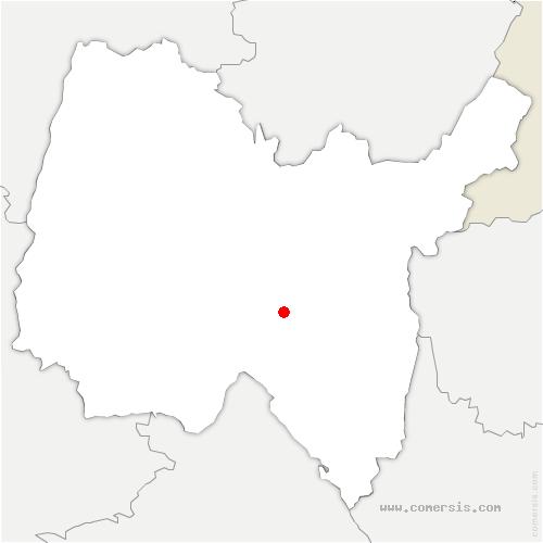carte de localisation de Saint-Rambert-en-Bugey