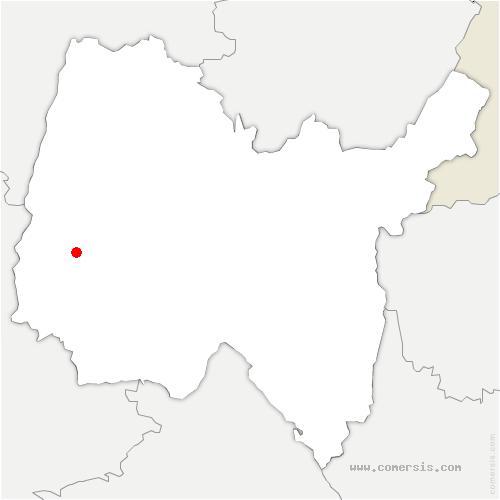 carte de localisation de Saint-Trivier-sur-Moignans