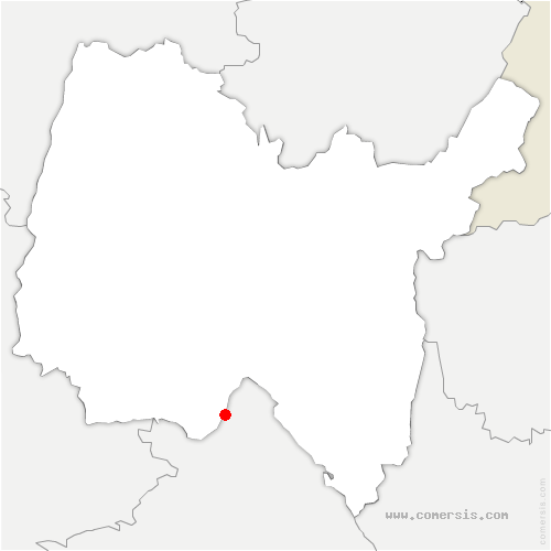 carte de localisation de Saint-Vulbas