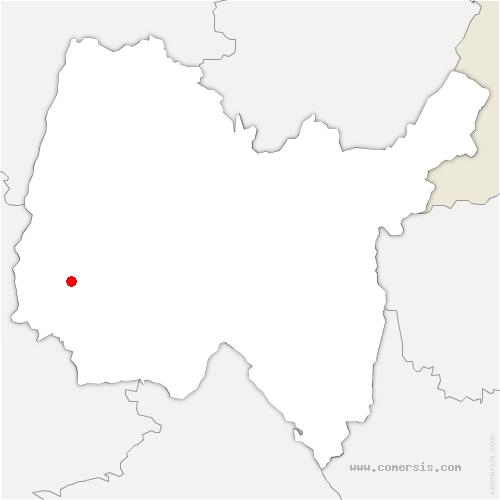 carte de localisation de Sainte-Olive
