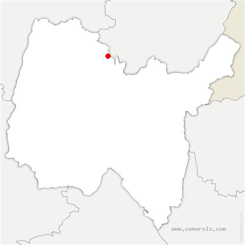 carte de localisation de Salavre