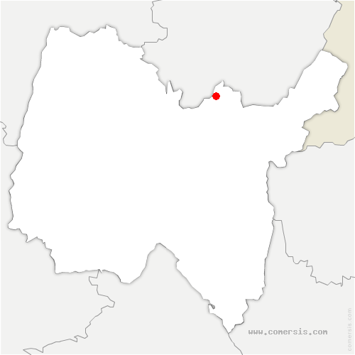 carte de localisation de Samognat