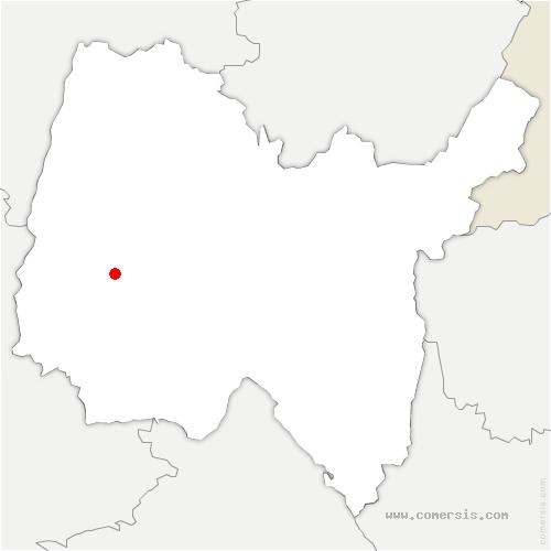 carte de localisation de Sandrans