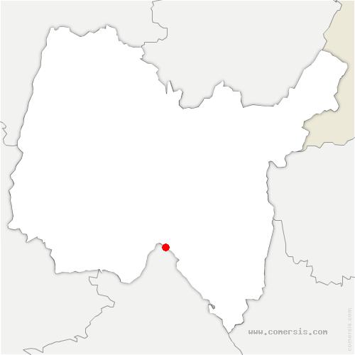 carte de localisation de Sault-Brénaz