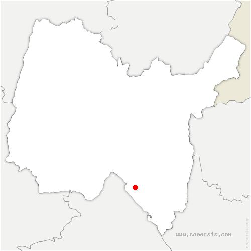 carte de localisation de Seillonnaz