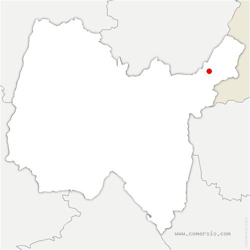 carte de localisation de Sergy