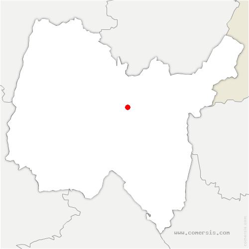carte de localisation de Serrières-sur-Ain