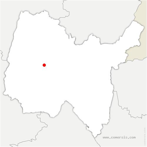 carte de localisation de Servas