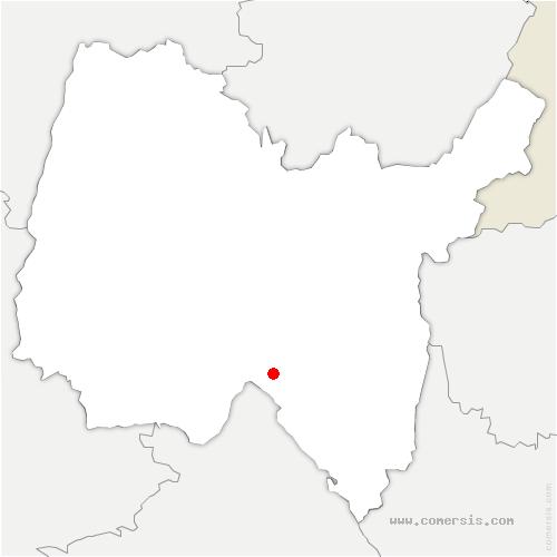 carte de localisation de Souclin