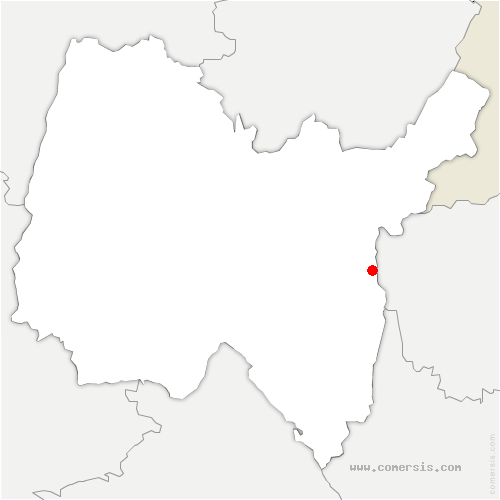 carte de localisation de Surjoux-Lhopital