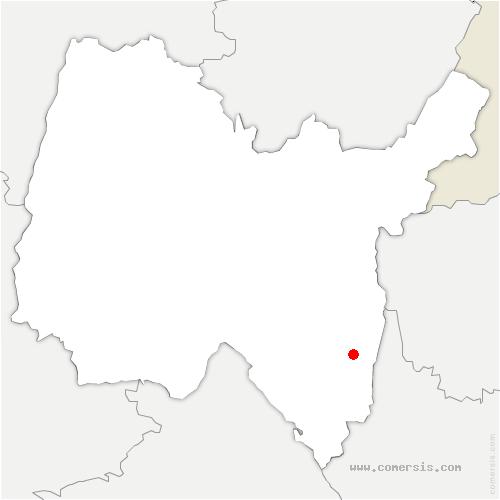 carte de localisation de Talissieu