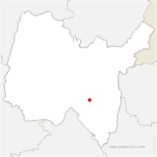 carte de localisation de Tenay