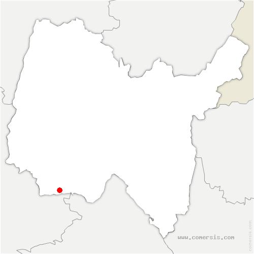 carte de localisation de Thil