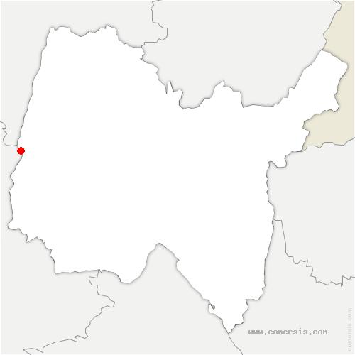 carte de localisation de Thoissey