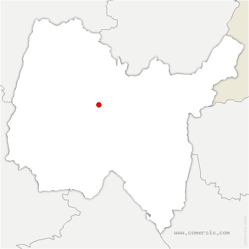 carte de localisation de Tossiat