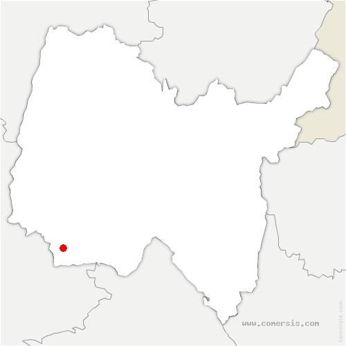carte de localisation de Tramoyes