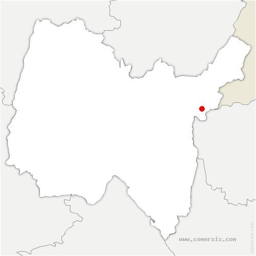 carte de localisation de Valserhône