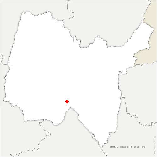carte de localisation de Vaux-en-Bugey