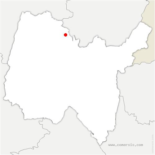 carte de localisation de Verjon
