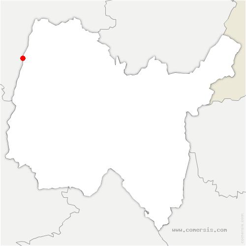 carte de localisation de Vésines