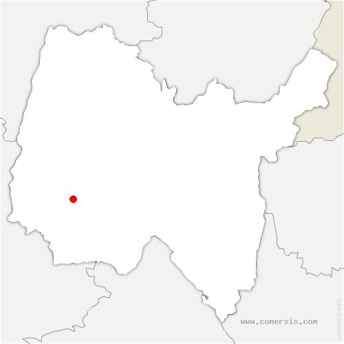carte de localisation de Villars-les-Dombes
