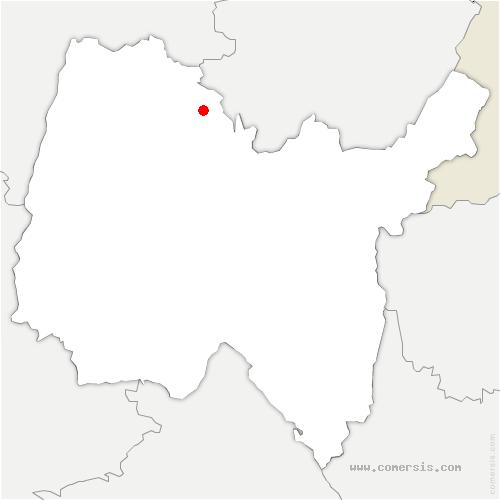 carte de localisation de Villemotier