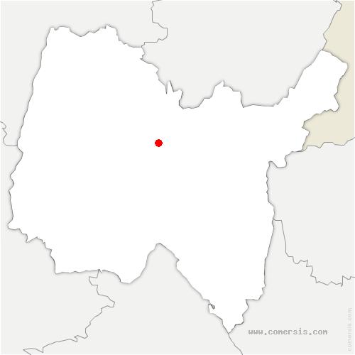 carte de localisation de Villereversure