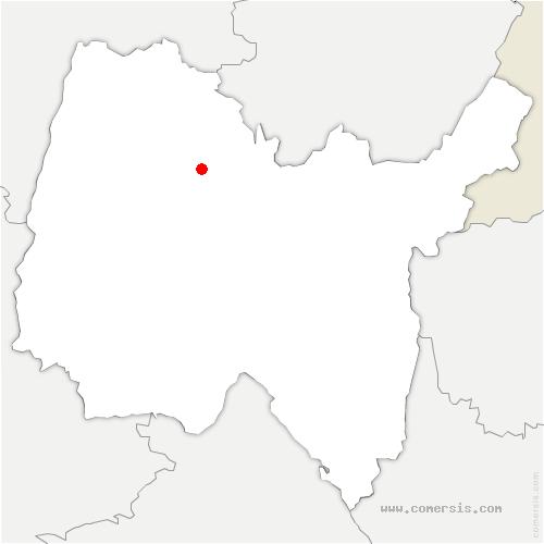 carte de localisation de Viriat