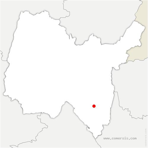 carte de localisation de Virieu-le-Grand