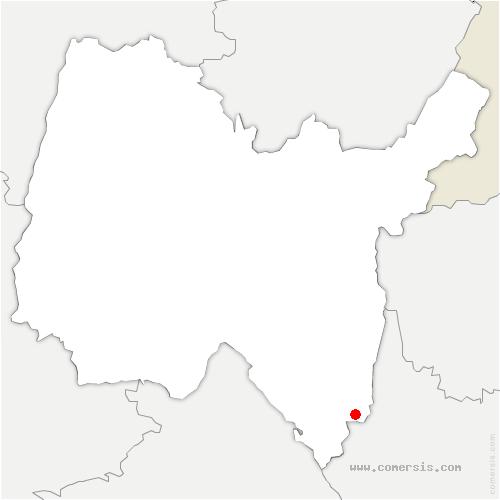 carte de localisation de Virignin