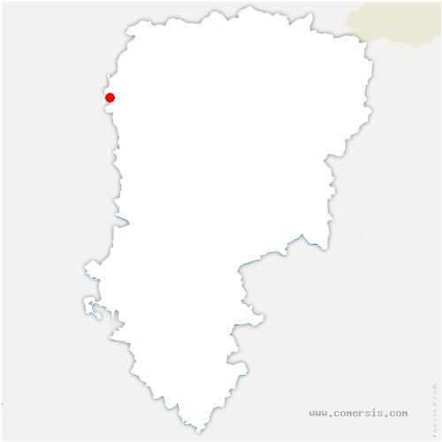 carte de localisation de Foreste