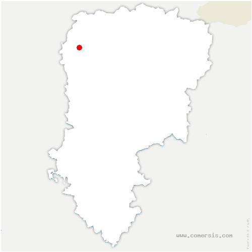 carte de localisation de Francilly-Selency