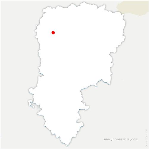 carte de localisation de Gauchy