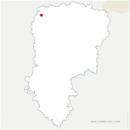 carte de localisation de Pontruet