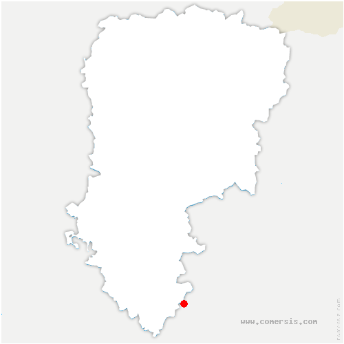 carte de localisation de Vallées-en-Champagne
