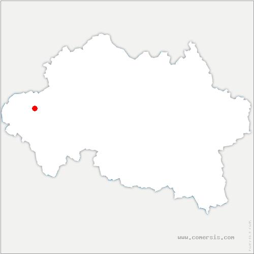 carte de localisation de Audes