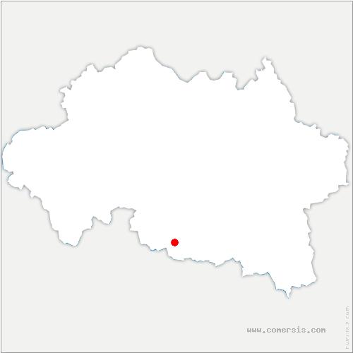 carte de localisation de Bègues