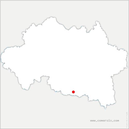 carte de localisation de Biozat